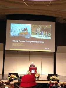 Moving Forward During Uncertain Times was the title of Mone's talk Wednesday.