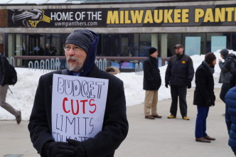 Unions, Students Rally on UWM Campus Against Proposed Cuts
