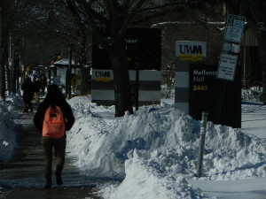 The UWM campus on Monday. Photo by Media Milwaukee staff.
