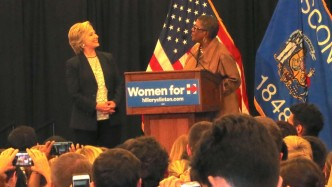 Scenes from the Crowd: Hillary Clinton at UW-Milwaukee