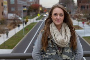 Nichole Elsner is studying social psychology and interpersonal communication at UWM. She hopes to one day be a lobbyist. Photo by Mary Jo Contino