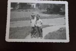 A childhood photo featuring brothers James (left) and Mike (right). Photo obtained by Brandon Hartman.
