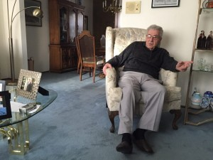 Howard Melton, 84, sits in his Glendale home as he tells his story. Photo credit: Mary Jo Contino