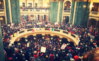 Tens of Thousands Rally at the State Capitol