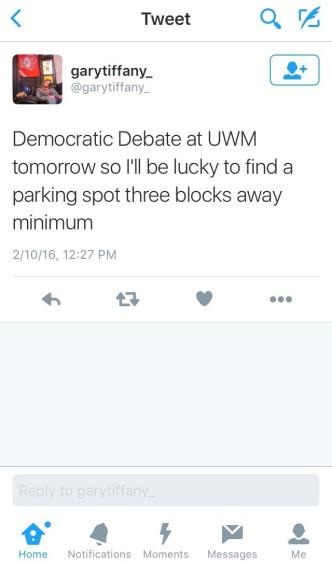 Parking During the UWM Debate? Yeah, That Wasn't Fun