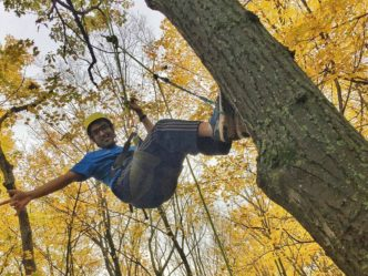 UW-Milwaukee Students Swing From Trees