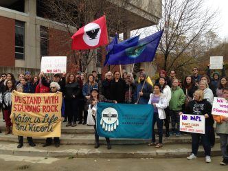 Dakota Access Pipeline Protesters Shown Solidarity at UW-Milwaukee Rally