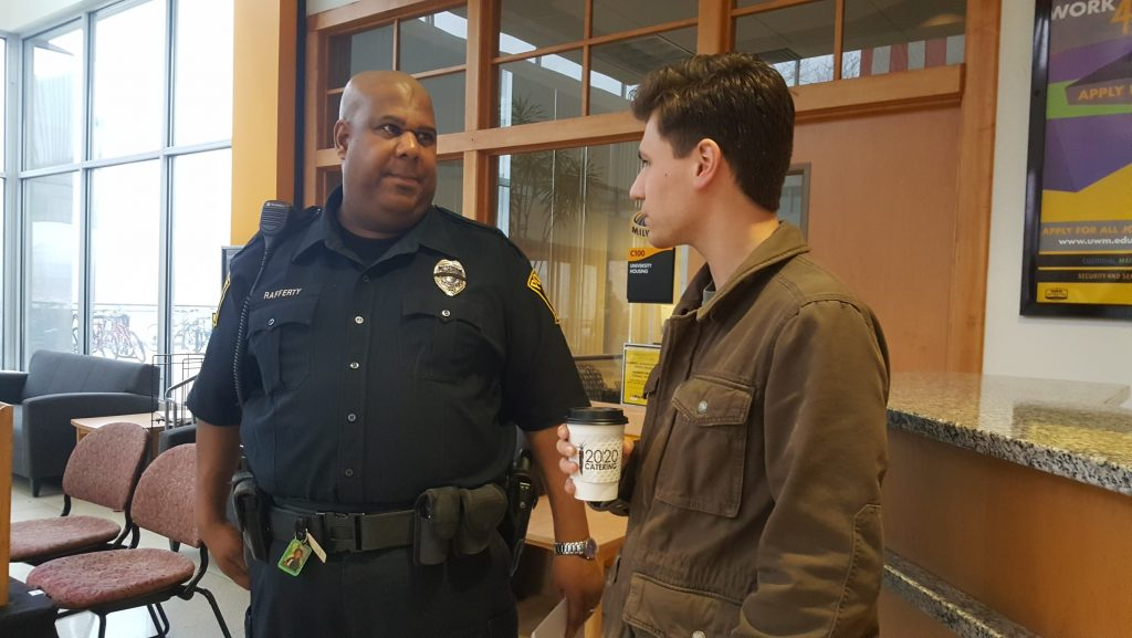 uwm coffee with cop, uwm police
