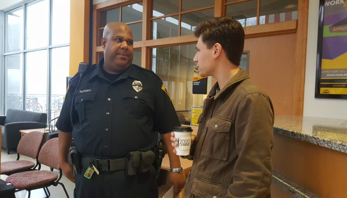 UWM Coffee with a Cop Helps Break Down Barriers with Students