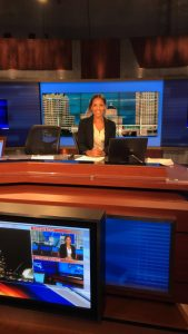 Ninia Linero sits at the WTMJ anchor desk.