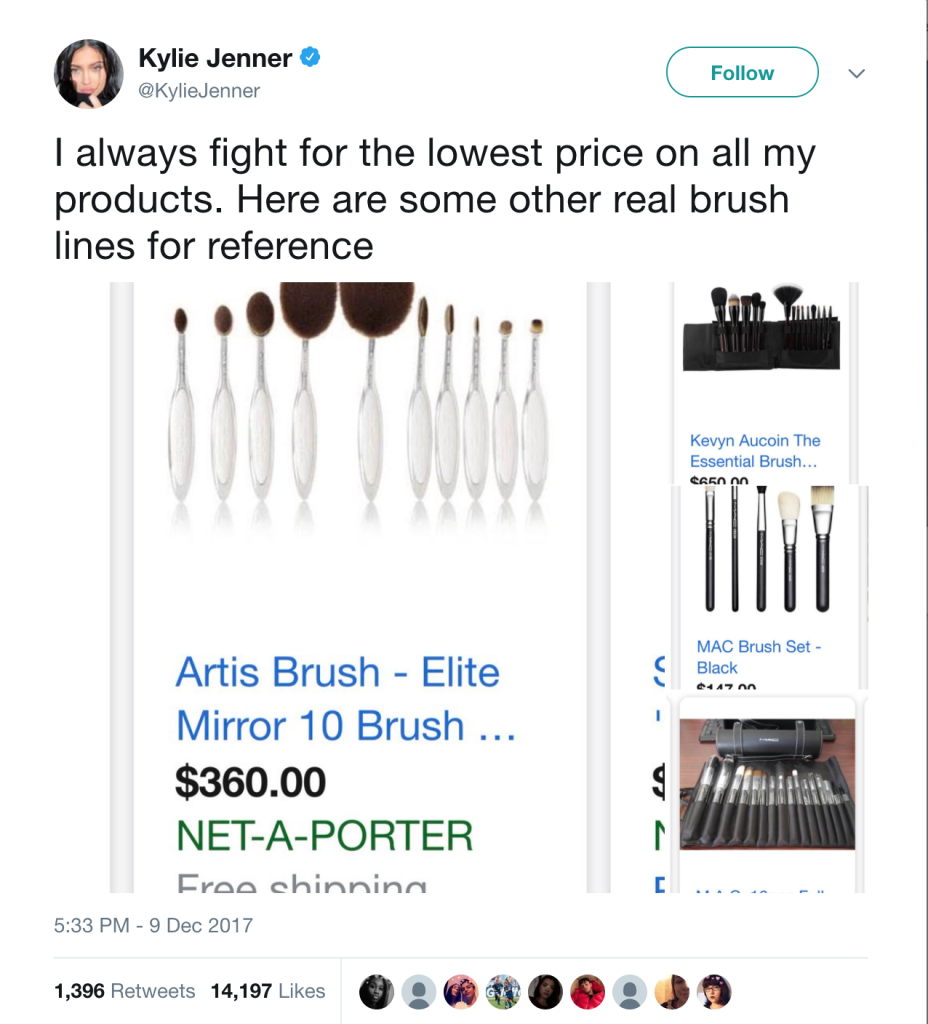 What's the Real Value of Kylie Cosmetics Makeup Brushes?