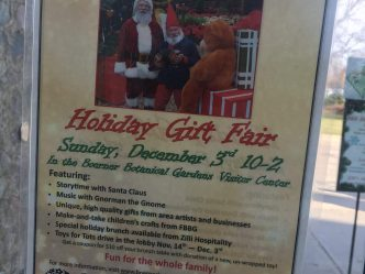 Botanical Gardens Hosts Holiday Fair (and a Gnome)